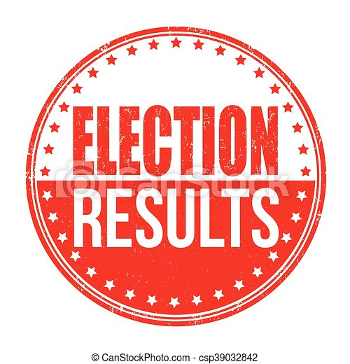 Election results stamp - csp39032842