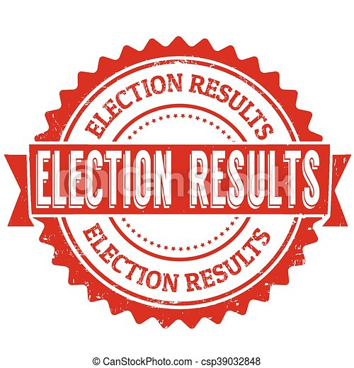 Election results stamp - csp39032848