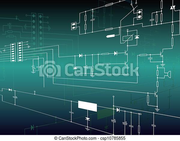 Trasfondo electrónico con circuito - csp10785855
