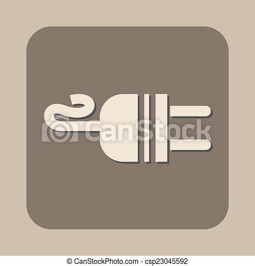 electric ac power plug vector icon - csp23045592