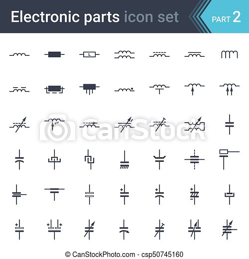 electric and electronic circuit diagram symbols set of inductors rh canstockphoto com Schematic Wiring Diagram Circuit Board Schematic Diagram Symbols