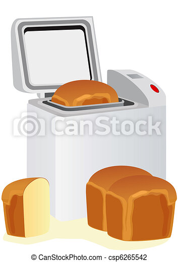 Electric bread maker and bread - csp6265542
