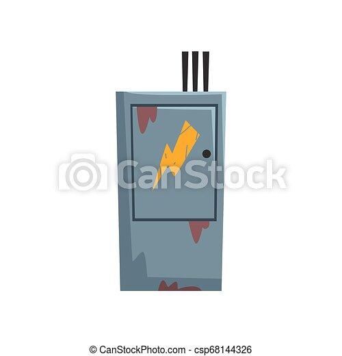 Electric Breaker Fuse Box, , Electrical Equipment Vector Illustration - csp68144326