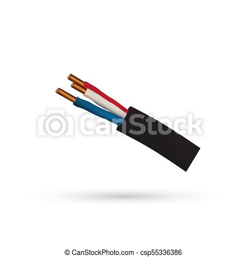 Electric cable icon, wire icon - vector illustration. vector ...