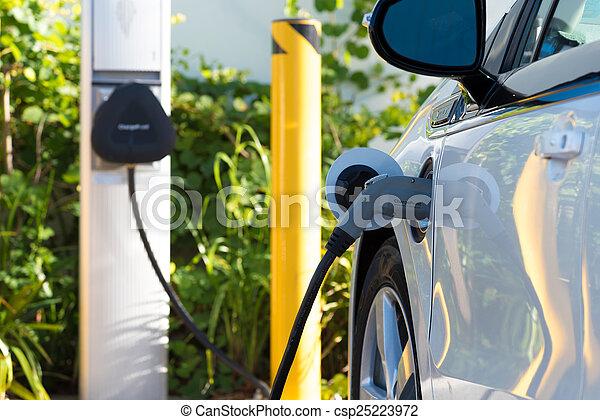 Electric car charging - csp25223972