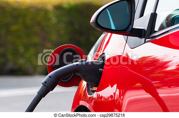 Electric Car Charging - csp29875218