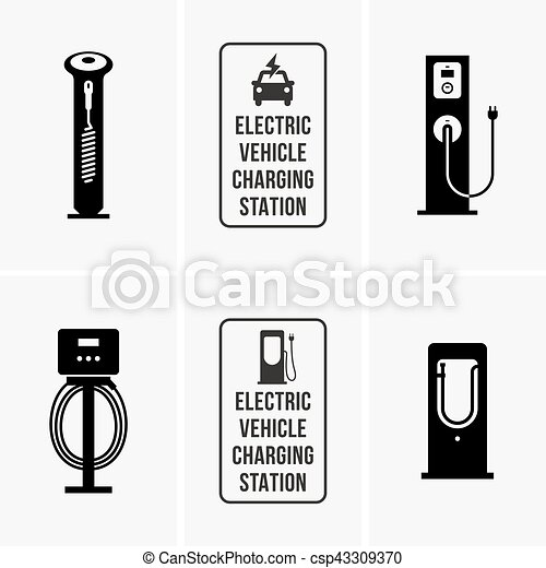 Electric car charging stations - csp43309370