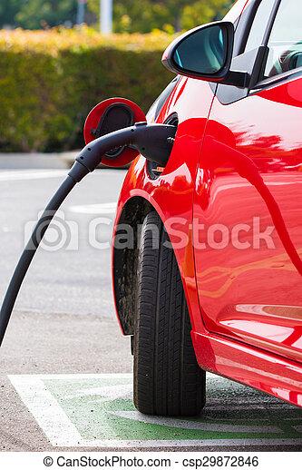 Electric Car Charging - csp29872846