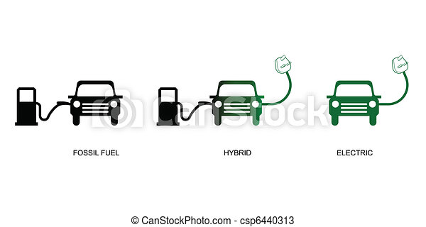 The Evolution Of Green Electric Car Technology Vectors
