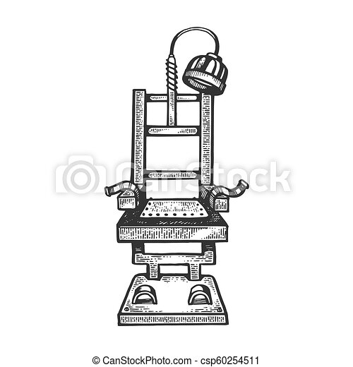 Surprising Electric Chair Engraving Vector Illustration Cjindustries Chair Design For Home Cjindustriesco