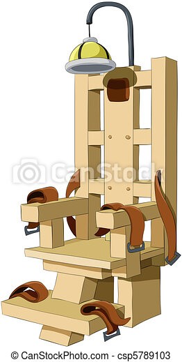 Electric chair illustration of the electric chair on a - Execution chaise electrique video ...