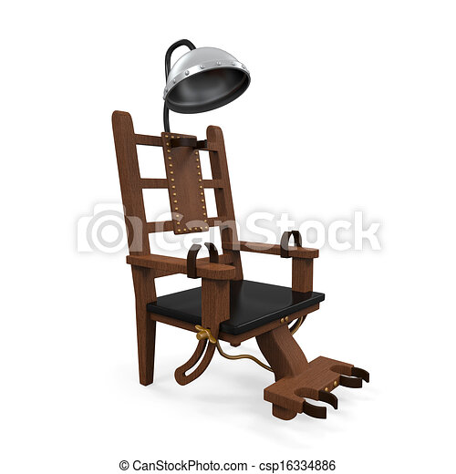 electric chair drawing. electric chair isolated - csp16334886 drawing e