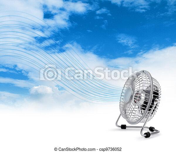 Electric cooler fan blowing fresh air - csp9736052