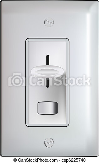 Electric dimmer switch -realistic illustration - csp6225740