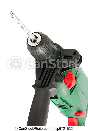 Electric dril with bit closeup - csp6721532