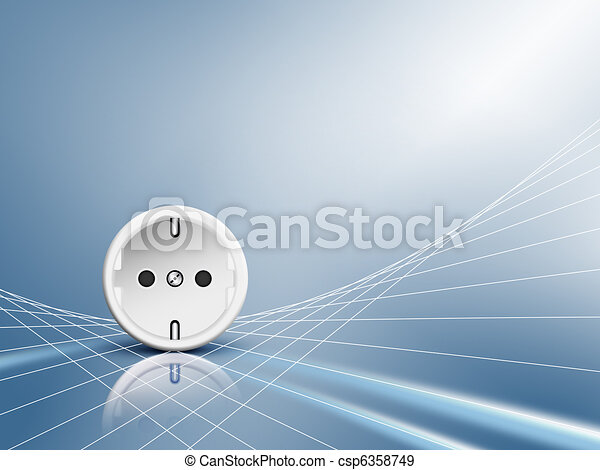 Electric energy - socket, outlet - csp6358749