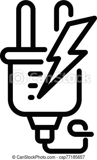 Electric europe plug icon, outline style - csp77185657