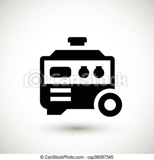Electric generator icon - csp36097345