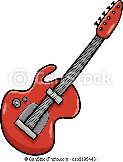 electric guitar cartoon clip art cartoon illustration of vectors rh canstockphoto com instrument clipart clipart instrument de musique