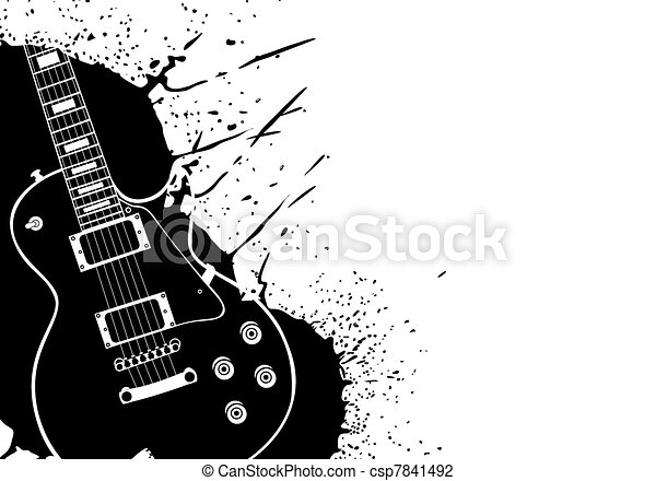 Electric guitar - csp7841492