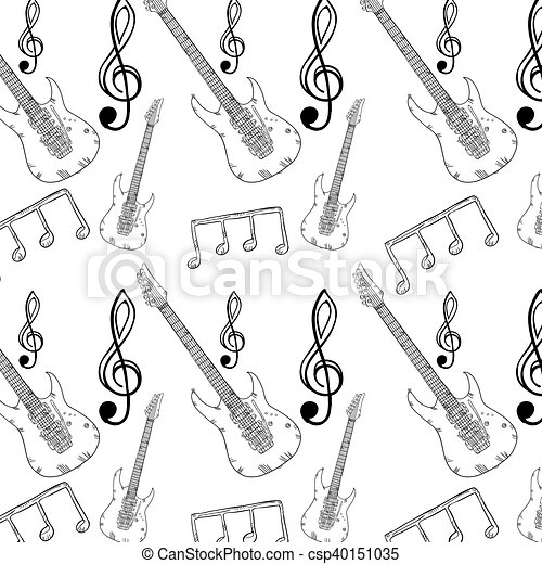 Electric Guitar Musical Background Musical Wallpaper With Music