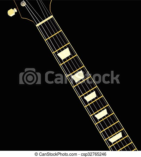 Electric Guitar Neck A With Ebony Fretboard And