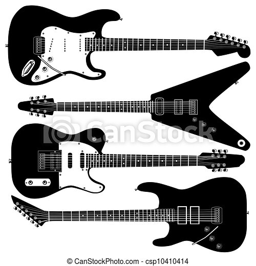 Electric guitar vector - csp10410414