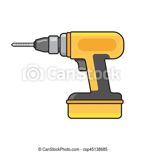 Electric Hand Drill Icon. Vector - csp45138685