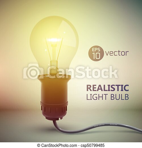 Electric Light Bulb Background   Csp50799485