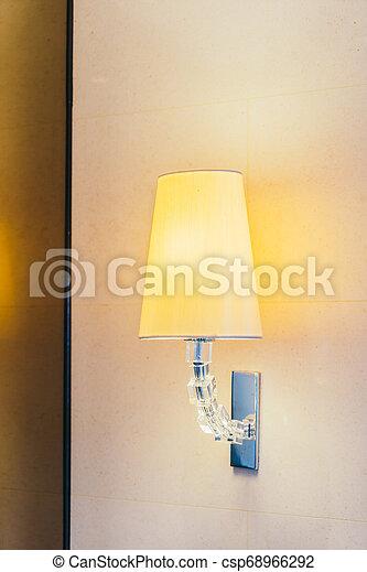 Electric light lamp on wall decoration interior - csp68966292