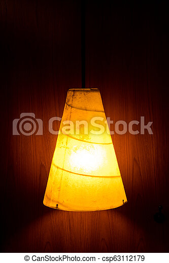 Electric light lamp on wall - csp63112179