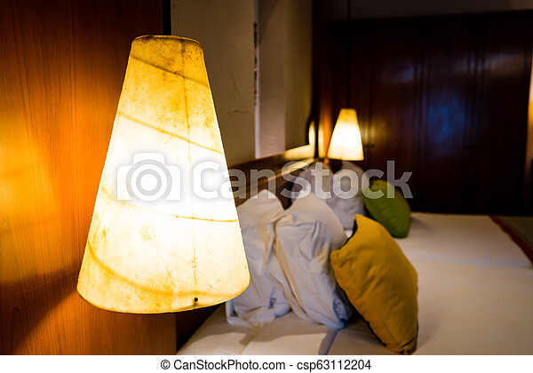 Electric light lamp on wall - csp63112204