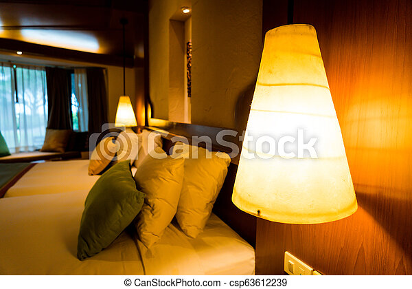 Electric light lamp on wall - csp63612239