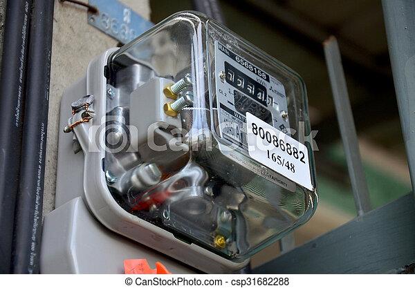 Electric meter at home - csp31682288