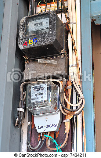 electric meter  - csp17434211