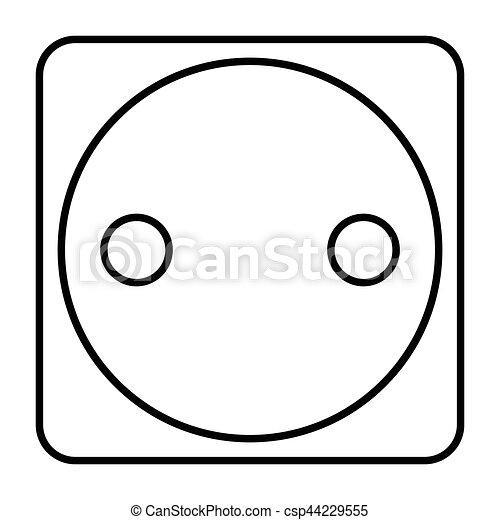 Simple Thin Line Electric Plug Icon Vector