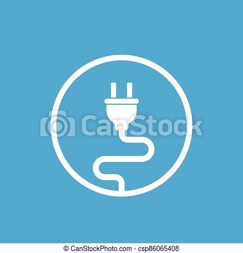 electric plug, electricity vector icon - csp86065408