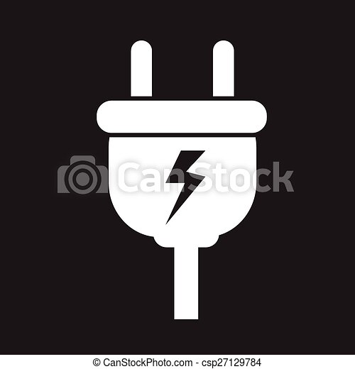 Electric plug icon - csp27129784