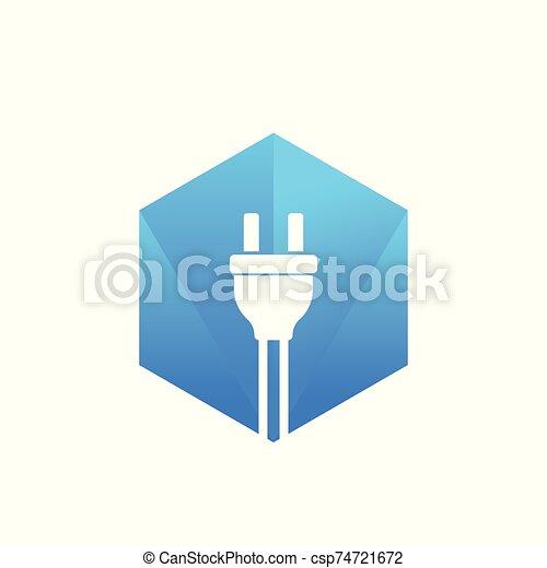 electric plug vector - csp74721672