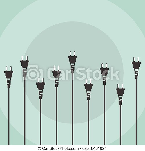 Electric plugs flat design concept - csp46461024