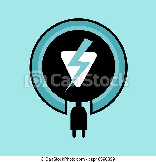 Electric Power Icon Vector