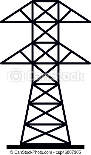 Electric Power Station Icon Isolated Vector