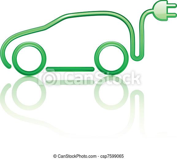 electric powered car - csp7599065
