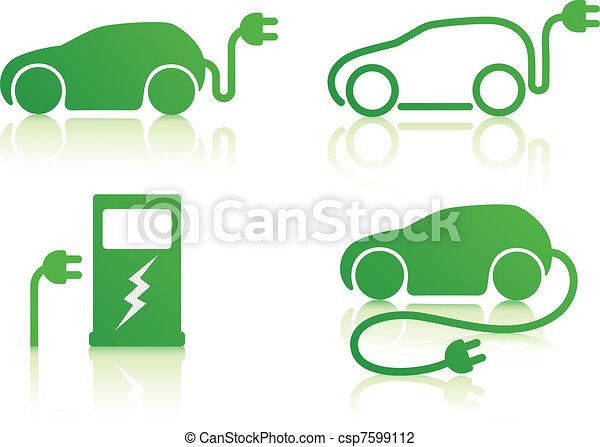 electric powered car - csp7599112