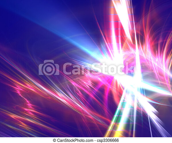 Electric Rainbow Fractal - csp3306666