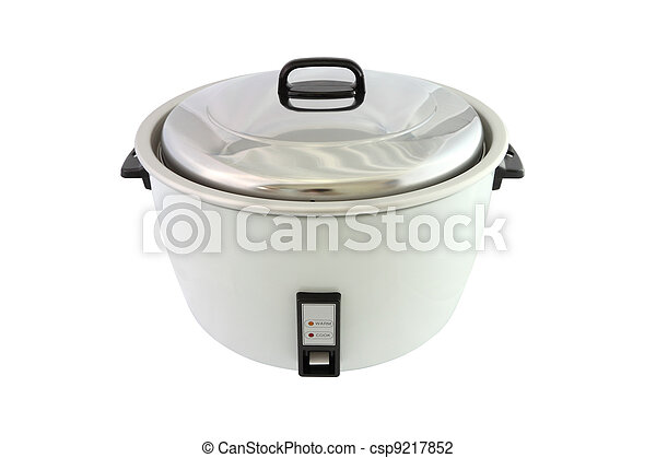 Electric rice cooker on white background. - csp9217852