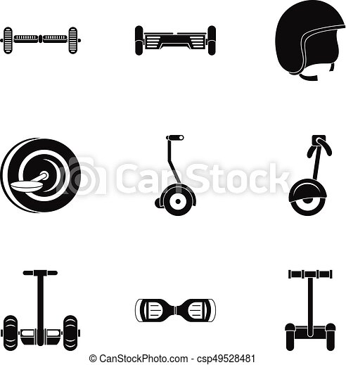 electric scooter icon set simple style electric scooter icon set simple style set of 9 electric scooter vector icons for https www canstockphoto com electric scooter icon set simple style 49528481 html