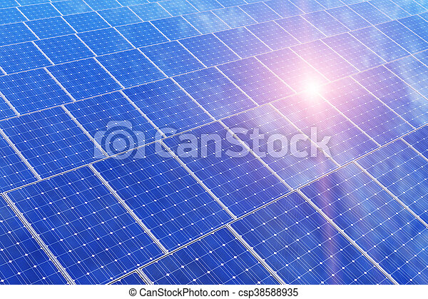 Electric solar battery panels - csp38588935