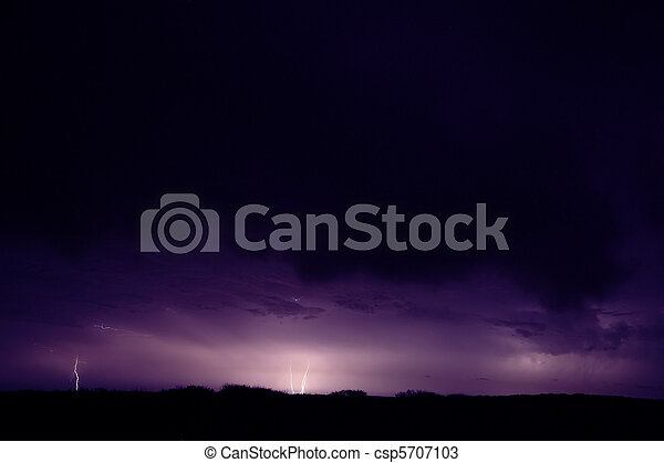 Electric storm. The plains in the Gascoyne region of Western Australia allowed me to see far and beyond - and hence the heavy electrical activity of the storm. The picture is grainy due to the high IS - csp5707103