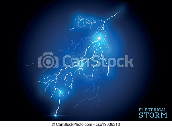 Electric Storm - csp19036318